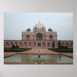 Tomb of Humayun Delhi India Poster