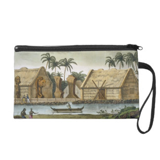 Tomb of Tamahamah at Kaiakakooa, Sandwich Islands, Wristlet Purses