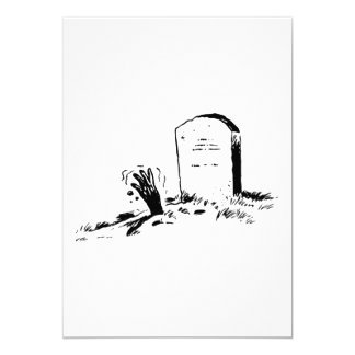 Tombstone And A Hand Invitations