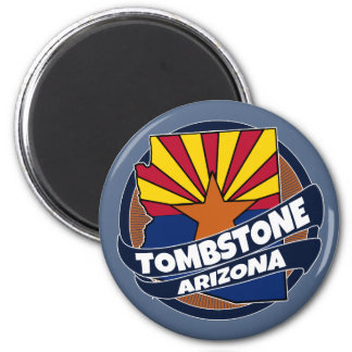 Tombstone Arizona flag burst magnet