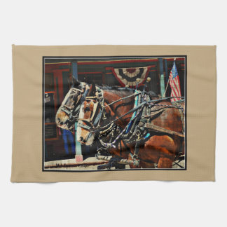 Tombstone Horses Kitchen Towel