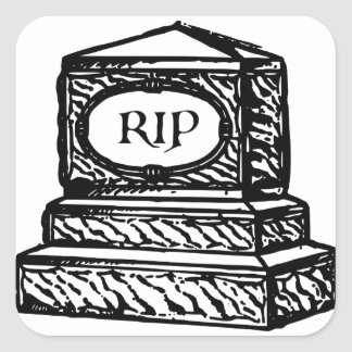 Tombstone Square Sticker