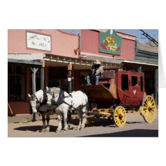 Tombstone Stagecoach horses Card