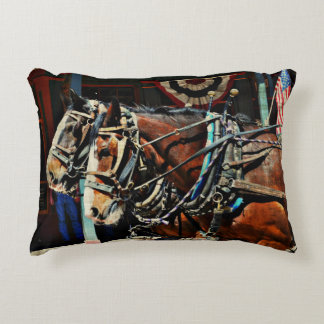 Tombstone StageCoach Horses Throw Pillow