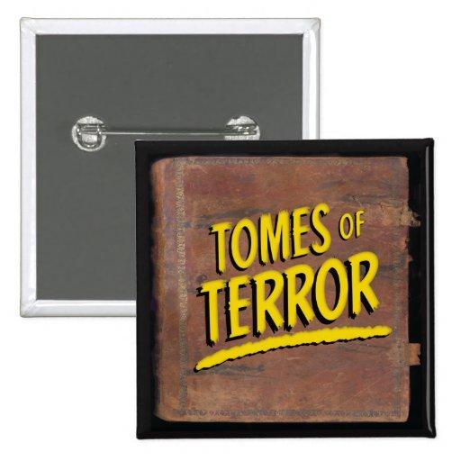 """""""Tomes of Terror"""" 1946 Logo Square Button"""