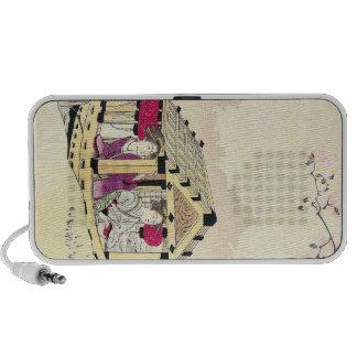Tomioka Eisen in a pleasure boat japanese ladies iPod Speakers