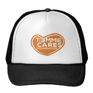 Tommie Cares Trucker Hat - Black with Orange Heart
