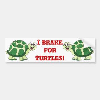 """Tommy and Tammy Turtle"" - Bumper-sticker Bumper Sticker"