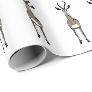 Tommy the gazelle wrapping paper