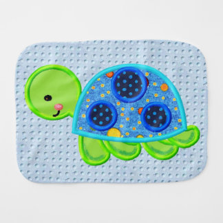Tommy Turtle Fun Baby Burp Cloth