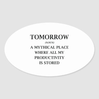 Tomorrow Oval Sticker
