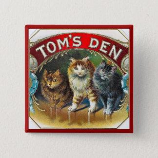 Toms Den Vintage Cigar Label 15 Cm Square Badge