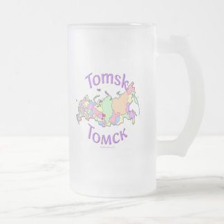 Tomsk Russia Frosted Glass Beer Mug