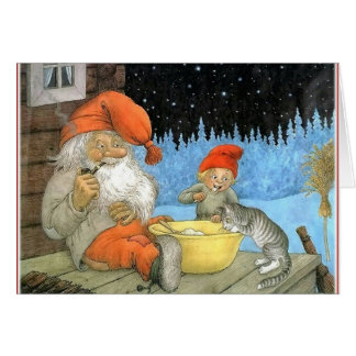 Tomte Nisse, aka Santa Clause Card