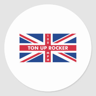 Ton Up Rocker Classic Round Sticker