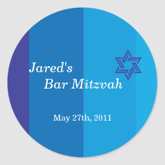 Tonal Blue Bar Mitzvah Sticker