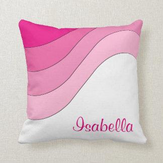 Tonal Wave Pink Custom Personalised Cushion
