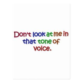 Tone of Voice Postcard