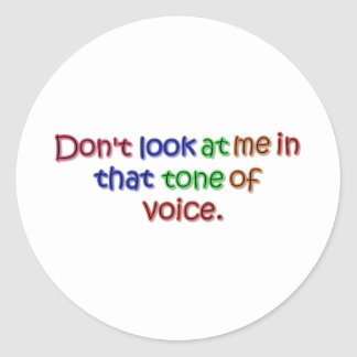 Tone of Voice Round Stickers
