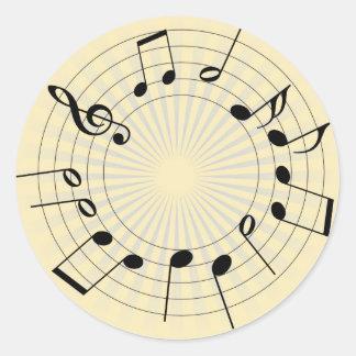 Tones Classic Round Sticker