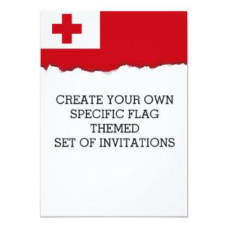 Tonga Flag Card