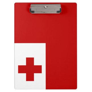 Tonga Flag Clipboard