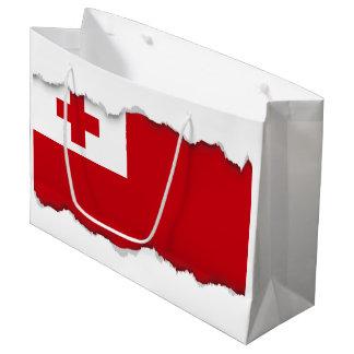 Tonga Flag Large Gift Bag