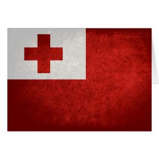 Tonga Flag Note Card