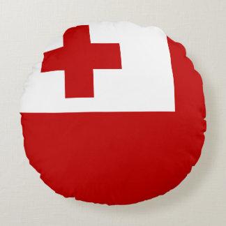 Tonga Flag Round Cushion