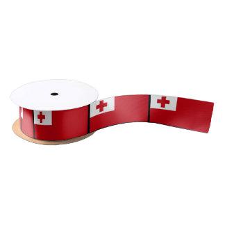 Tonga Flag Satin Ribbon