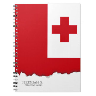 Tonga Flag Spiral Note Book