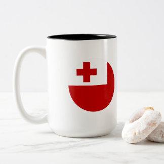 Tonga Flag Two-Tone Coffee Mug
