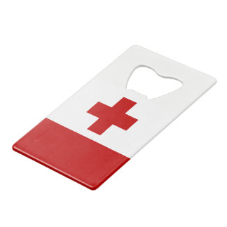 Tonga Island Flag Red Cross