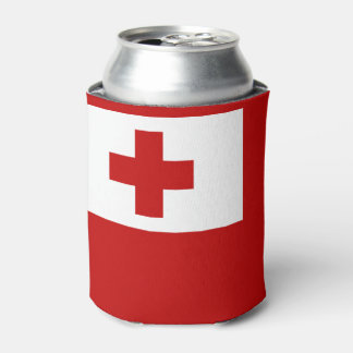 Tonga Island Flag Red Cross Can Cooler