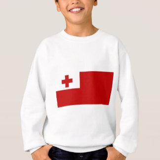 Tonga Island Flag Red Cross Sweatshirt