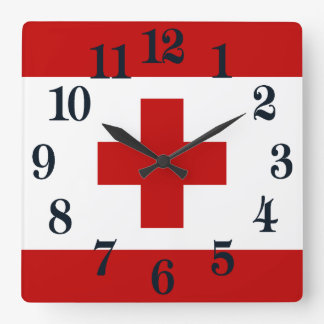 Tonga Island Flag Red Cross Wallclock