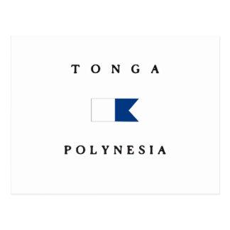 Tonga Polynesia Alpha Dive Flag Postcard