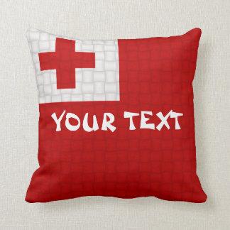 Tonga Tongan Flag: ADD TEXT Cushion