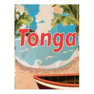 Tonga Vintage vacation Poster Post Card
