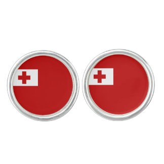 Tongan flag Cufflinks