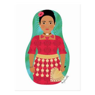 Tongan Matryoshka Postcard