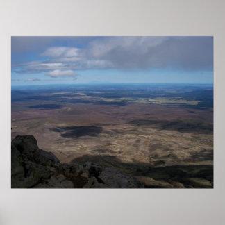 Tongariro Crossing: View of horizon Poster