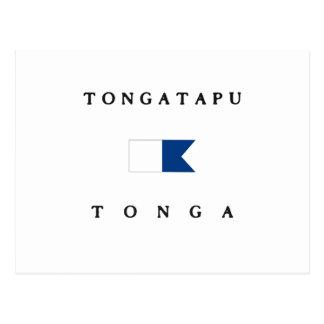 Tongatapu Tonga Alpha Dive Flag Postcards