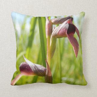 Tongue Orchid Throw Cushion