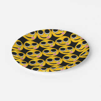 Tongue Out Emoji 7 Inch Paper Plate