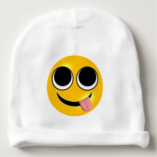 Tongue Out Emoji Baby Beanie