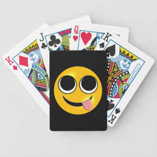 Tongue Out Emoji Bicycle Playing Cards