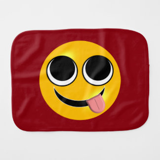 Tongue Out Emoji Burp Cloth