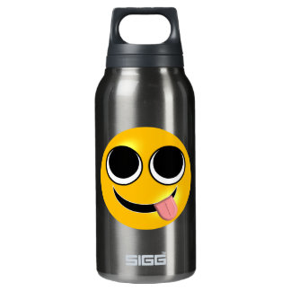 Tongue Out Emoji Insulated Water Bottle