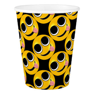 Tongue Out Emoji Paper Cup